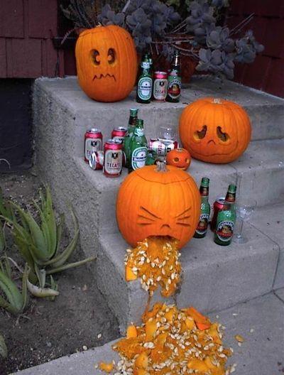 Pumpkins and alcohol