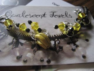 Banana-theme stitchmarkers from opal